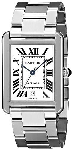 Cartier Tank Solo - Reloj (Reloj de Pulsera, Masculino, Acero Inoxidable, Acero