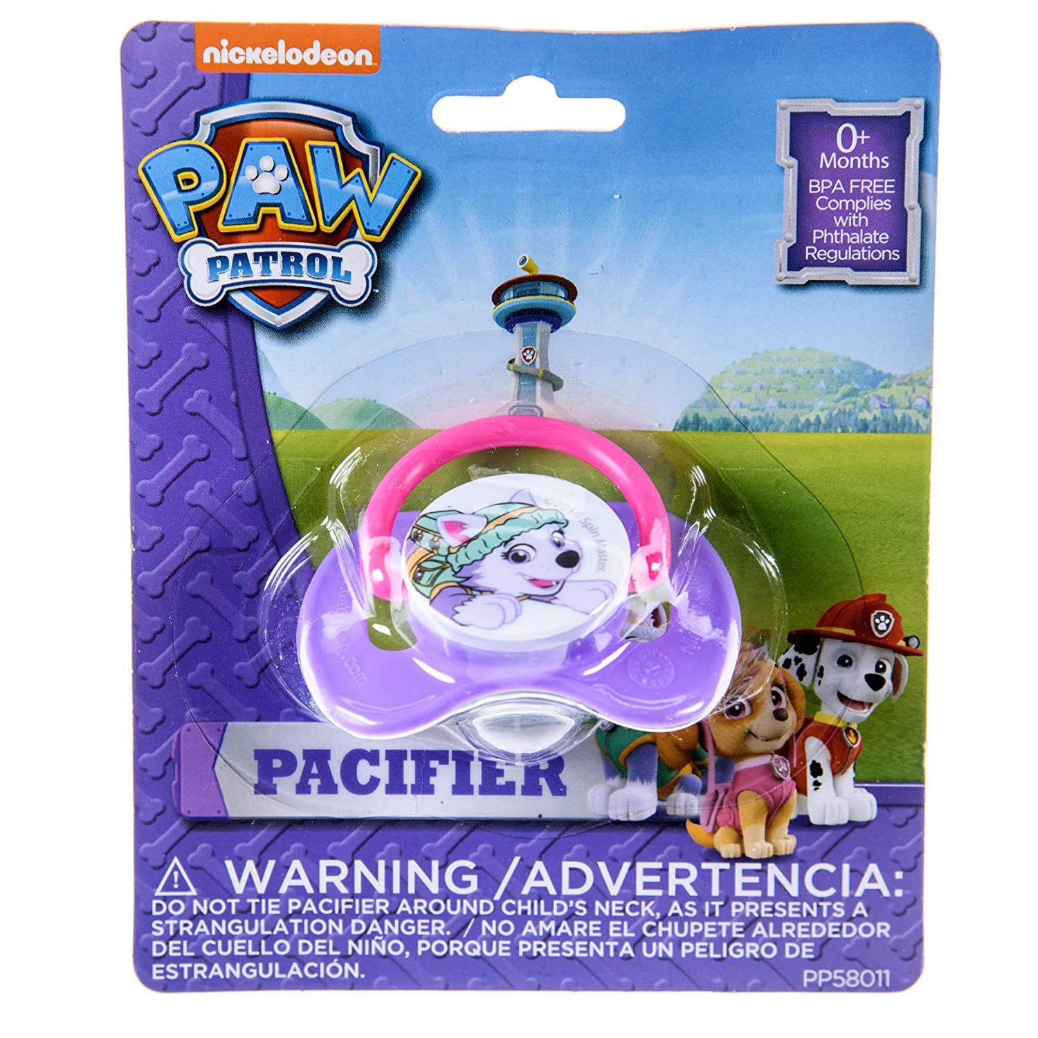 Amazon.com : Paw Patrol Pacifier BPA-Free 2 Count Pacifiers ...