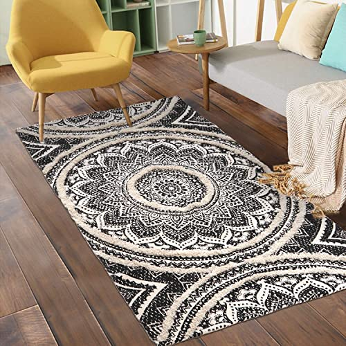 Mandala Tufted Cotton Area Rug 3' x 5'