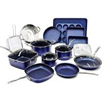 Granitestone Blue 20 Piece Pots and Pans Set, Complete Cookware & Bakeware Set with Ultra Nonstick Durable Mineral…