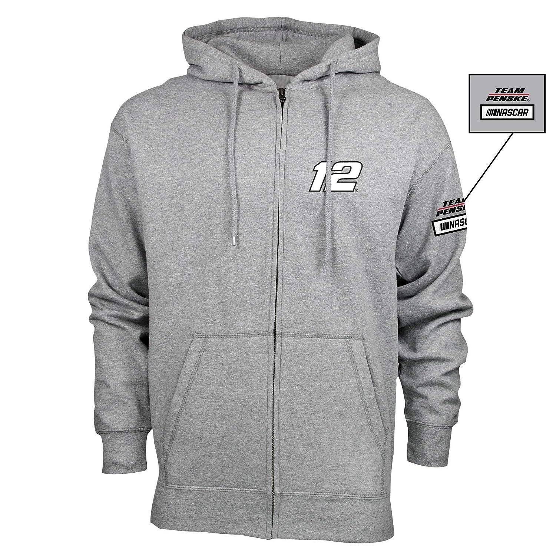 XL NASCAR Penske Racing Ryan Blaney Mens M Benchmark FZ HoodM Benchmark FZ Hood Premium Heather