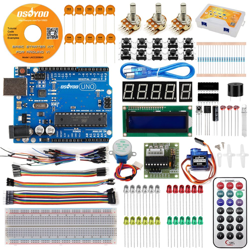 Osoyoo Basic Starter Kit With Uno R3 Board And Dvd Circuit Diagram For Servo Control Tutorial Arduino Electronic Projects Computers Accessories