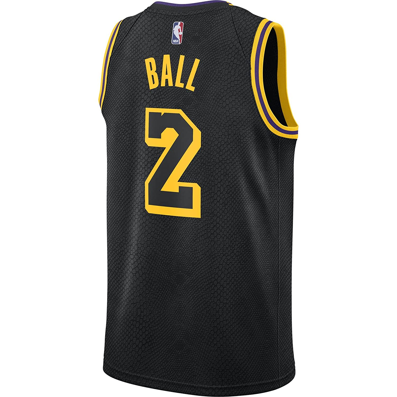 Nike NBA Los Angeles Lakers Lonzo Ball 2 2017 2018 City Edition Black Mamba Jersey Oficial Away, Camiseta de Hombre: Amazon.es: Ropa y accesorios