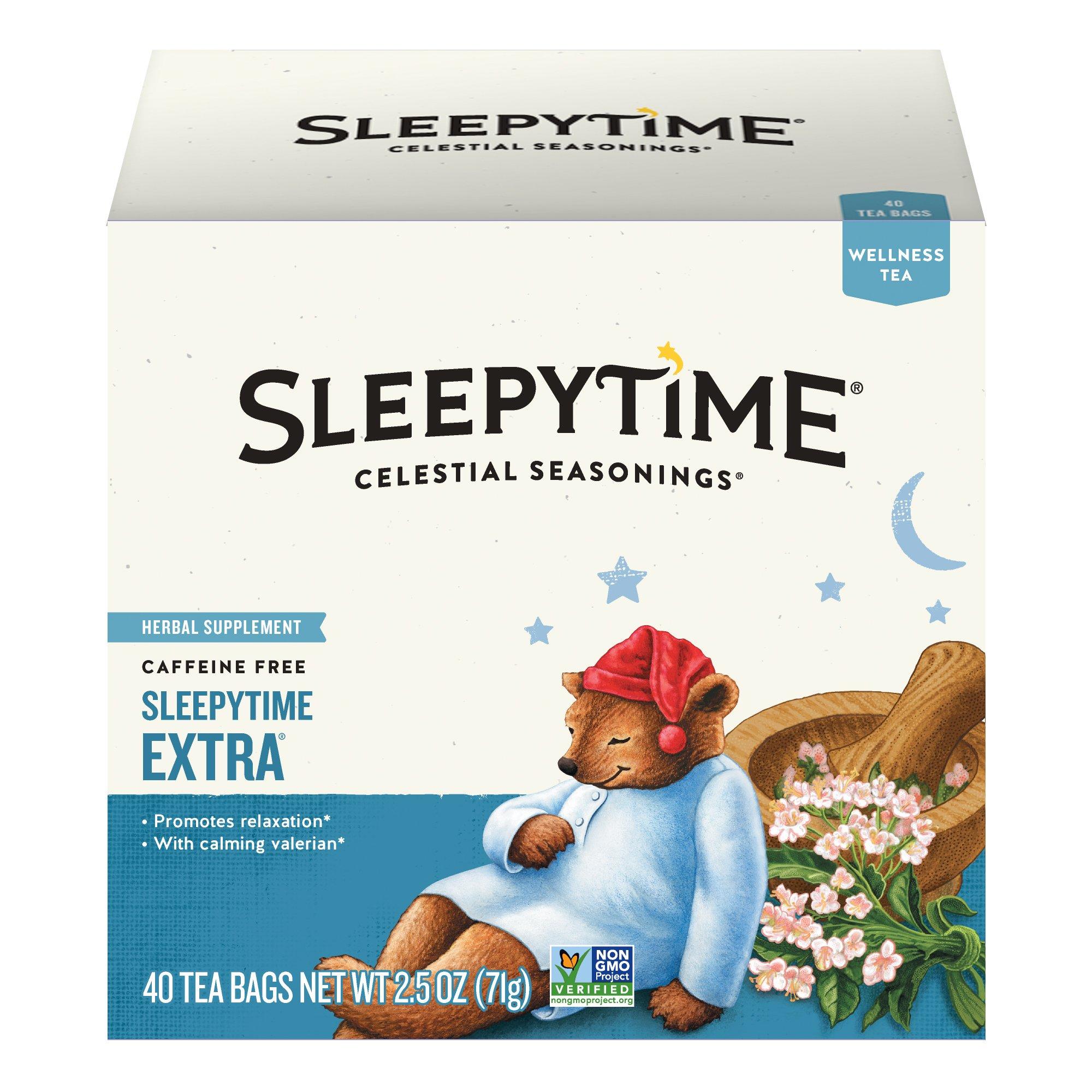 Celestial Seasonings Wellness Tea, Sleepytime Extra, 40 Count Box (Pack of 6) by Celestial Seasonings