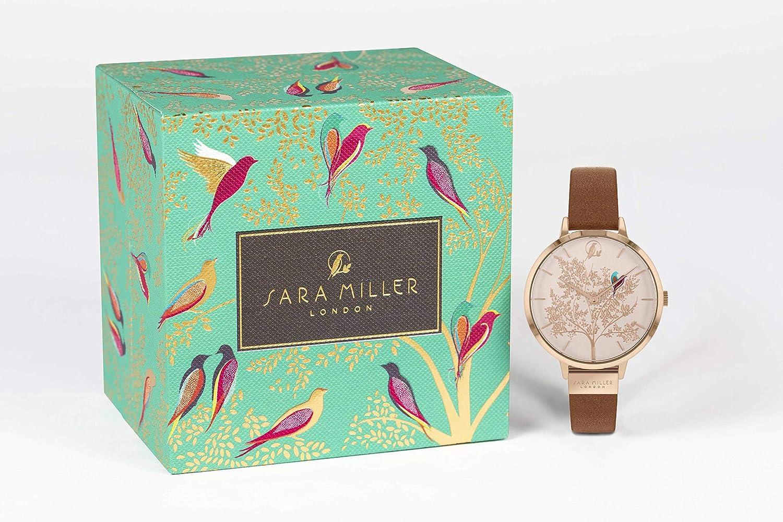 Sara Miller Chelsea Collection SA2018 - Reloj de Pulsera (bañado en Oro Rosa, Correa de Piel): Amazon.es: Relojes