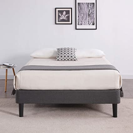 new concept 83e3e 738e2 Classic Brands DeCoro Claridge Upholstered Platform Bed | Metal Frame with  Wood Slat Support | Grey, Queen
