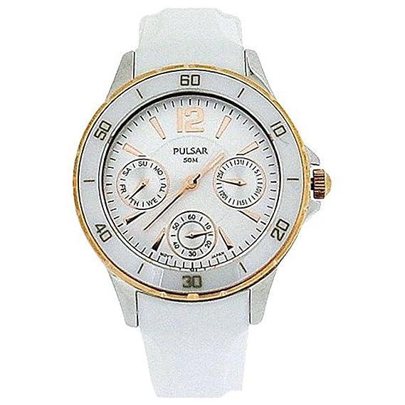 Pulsar Reloj analogico para Mujer de Cuarzo con Correa en Caucho PP6022X1