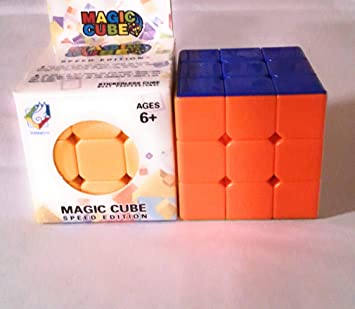 Toy Rush Sticker-Less 3x3x3 High-Speed Magic Cube, Easy Turning and Smooth Play Puzzle Toy