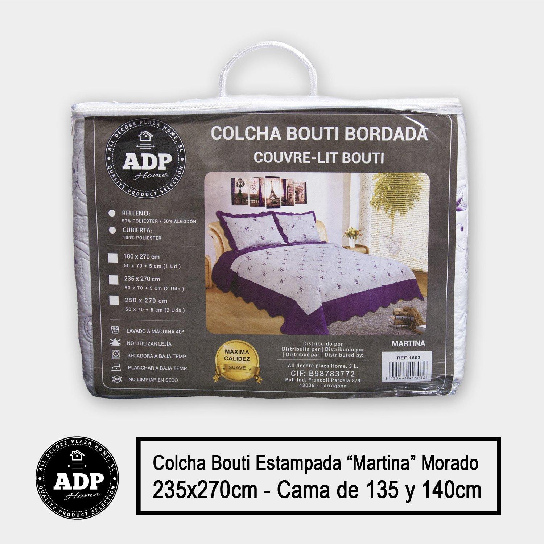 """Colcha Bouti Bordada """"MARTINA"""" cosida y de calidad con funda"""