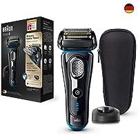 Braun 博朗系列 9 电动剃须刀,带充电站,旅行盒,黑色/蓝色 Schwarz/Eloxal-blau