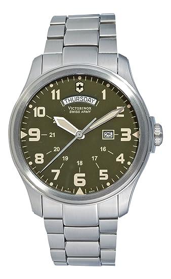 Victorinox 241291 - Reloj de Pulsera Hombre, Acero Inoxidable, Color Plata