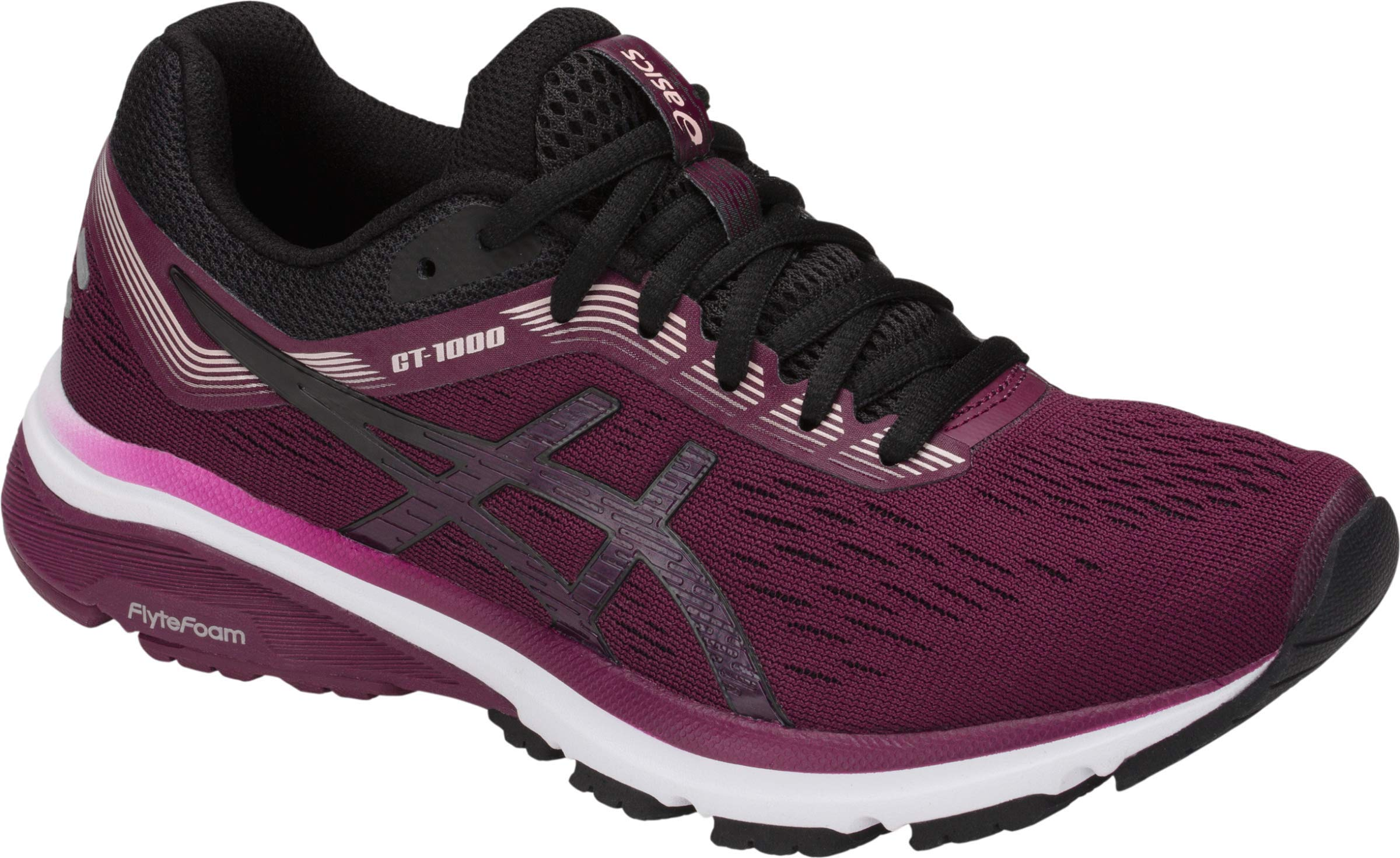 ASICS GT-1000 7 Women's Running Shoe, Roselle/Black, 5.5 B US by ASICS (Image #1)