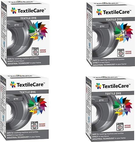 4 x 350 g TextileCare - Tinte para ropa y textiles (gris ...