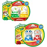 Washable Crayons for Toddlers - My First Crayola Bundle of 4 Crayon Characters