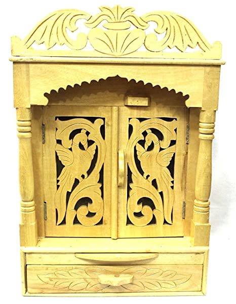 Amba Handicraft Wooden Hindu Temple For Home And Office Shrine