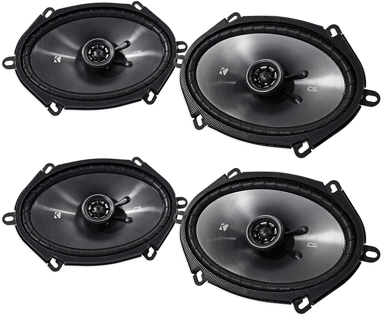 "Kicker CS Series 6"" x 8"" Coaxial EVC 2 Way 450 Watt Speakers 43CSC684 (2 Pair)"