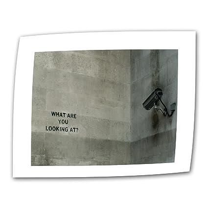 Amazon com: ArtWall CCTV Camera by Banksy Flat/Rolled Canvas
