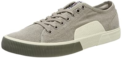 Tommy Hilfiger Iconic Long Lace Sneaker, Sneakers Basses Homme, Beige (Cobblestone 068), 42 EU