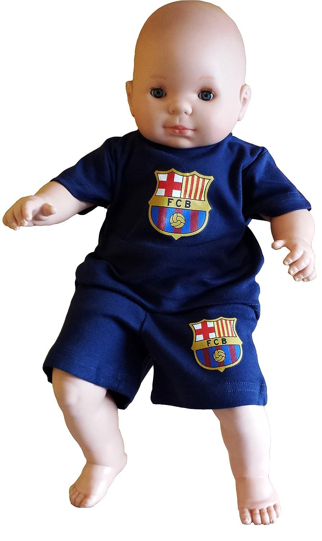 FC Barcelone - Conjunto camiseta + Short Bebé FC Barcelona Azul azul Talla 18  meses  Amazon.es  Deportes y aire libre 2ee630e2b6ad4