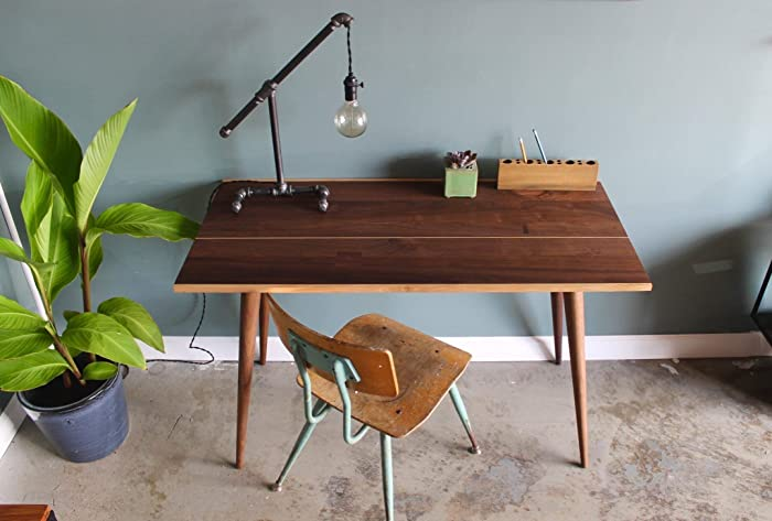 Amazoncom Home Office Desk Modern Desk Walnut Office Desk