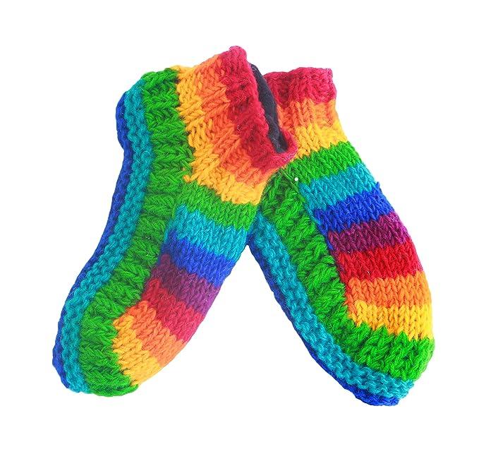 ad1ef99252dee Warm slipper sock for women men ladies girls - Hand knitted Woollen sherpa  socks - Hand made woolen socks winter soft and fleece lined