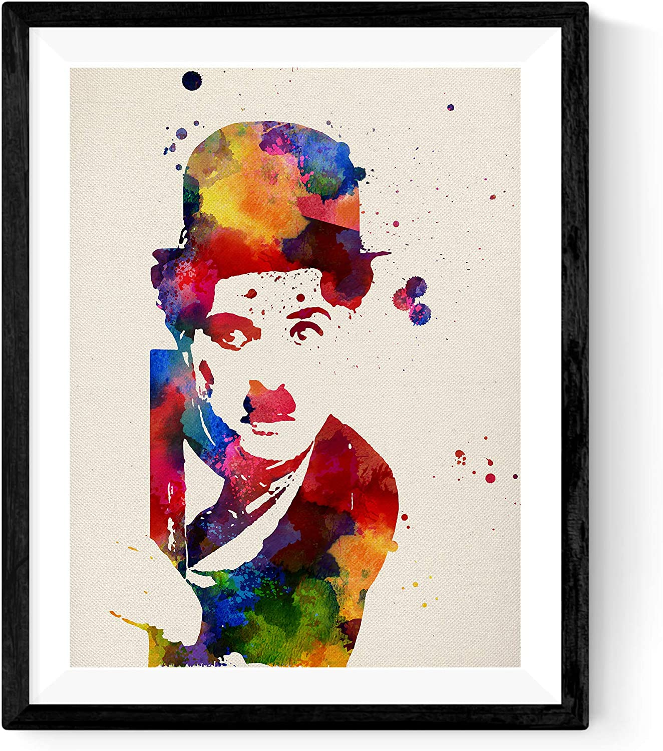 Nacnic Prints Charlie Chaplin Famous Person - Set of 1 - Unframed 11x17 inch Size - 250g Paper - Beautiful Poster Painting for Home Office Living Room