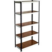 Giraffe Mild Steel 5-Shelf Shelving Multipurpose & Adjustable Heavy Duty Storage Steel Rack For Home and Office Organizer Rack