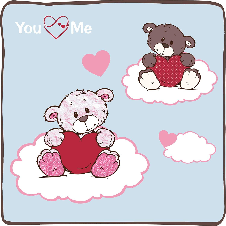Nici 44421 Keyring Love Bear boy with Heart 10cm Brown