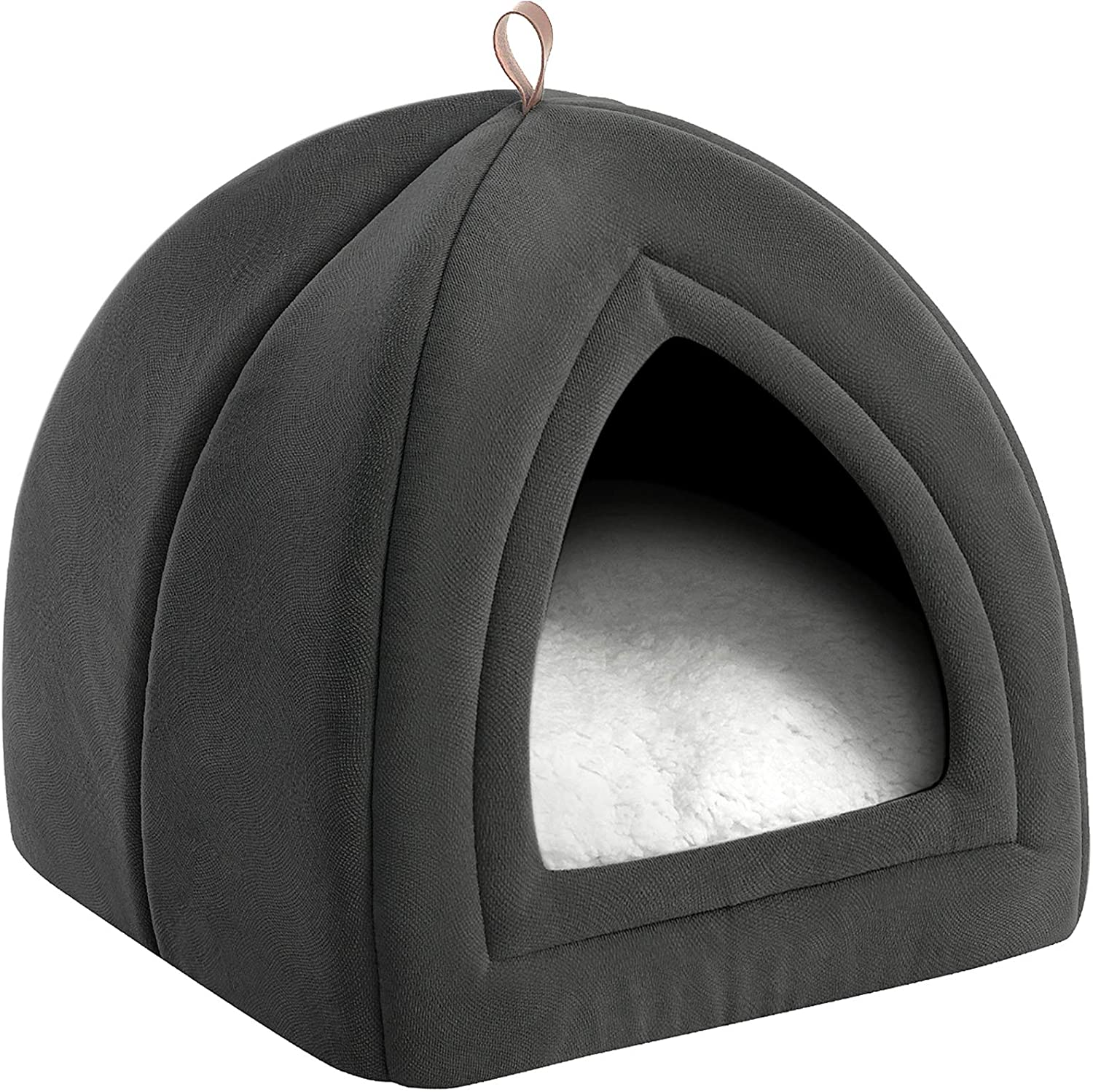 Bedsure Cat Bed For Indoor Cats Cat Houses Small Dog Bed 15 Inches 2 In 1 Cat Tent Kitten Bed Cat Hut Cat Cave With Removable Washable Cushioned Pillow Outdoor Dog