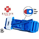 Tourniquet -(Blue) Recon Medical Gen 3 Mil-Spec Kevlar Metal Windlass Aluminum First Aid Tactical Swat Medic Pre-Hospital Life Saving Hemorrhage Control Registration Card 1 Pack