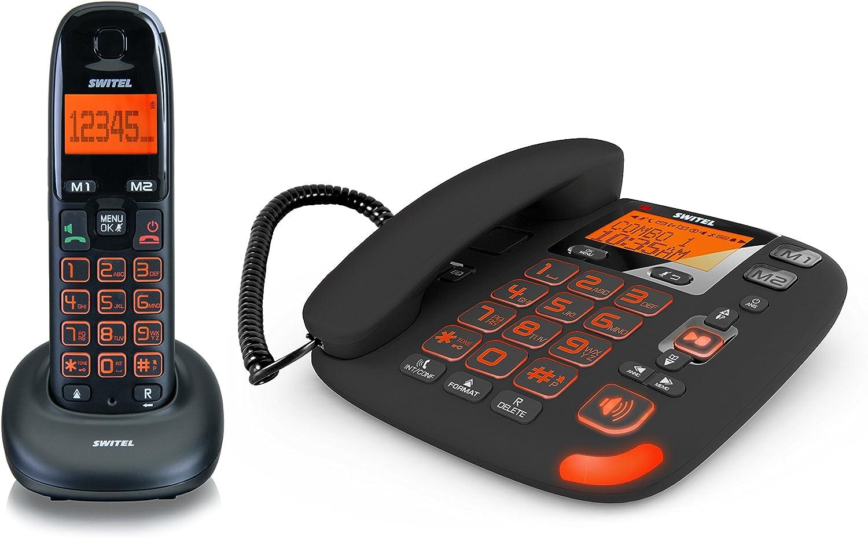 Switel DCT 50072 C VITA - Conjunto de teléfonos: con conexión por cable y teléfono inalámbrico (DECT), importado