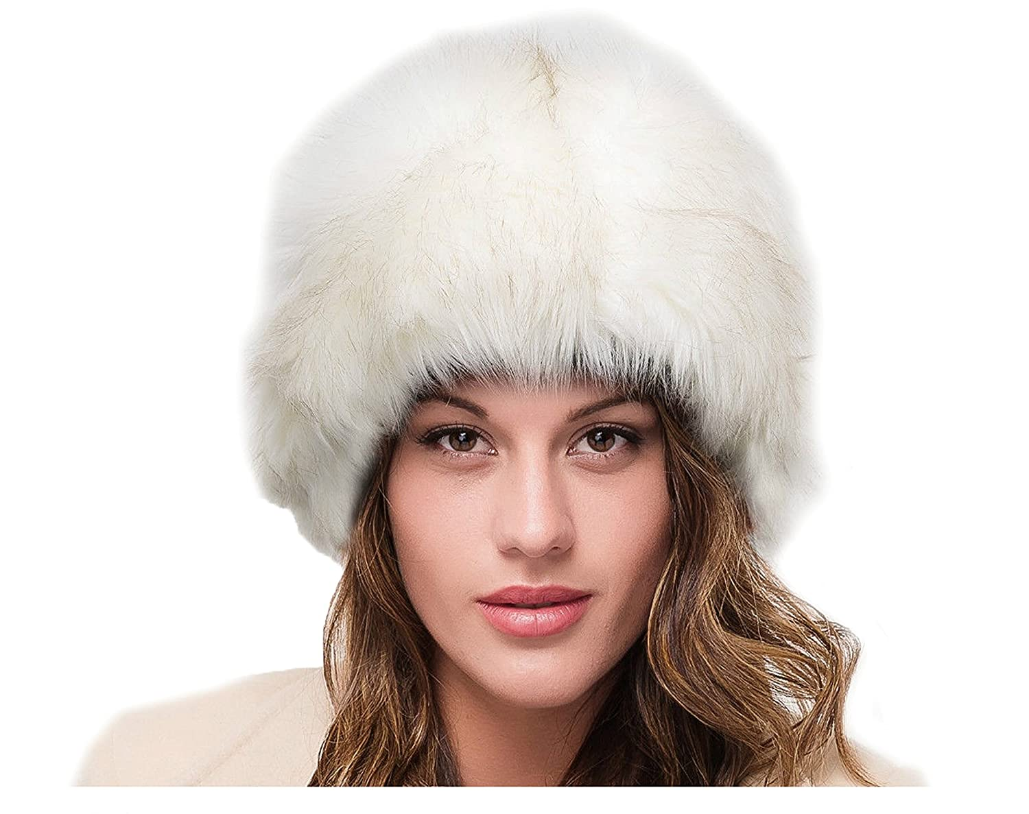 LADIES SUPERB QUALITY CREAM FAUX FUR WINTER RUSSIAN COSSACK CLOCHE STYLE HAT   Amazon.co.uk  Clothing 5de5f0f6852