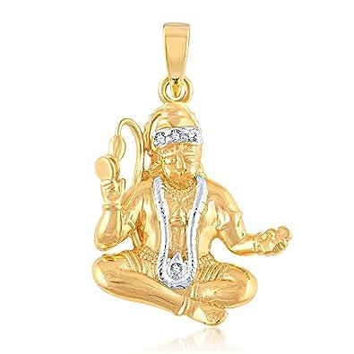 Buy v k jewels lord hanuman gold and rhodium plated alloy god v k jewels lord hanuman gold and rhodium plated alloy god pendant for men women made aloadofball Images