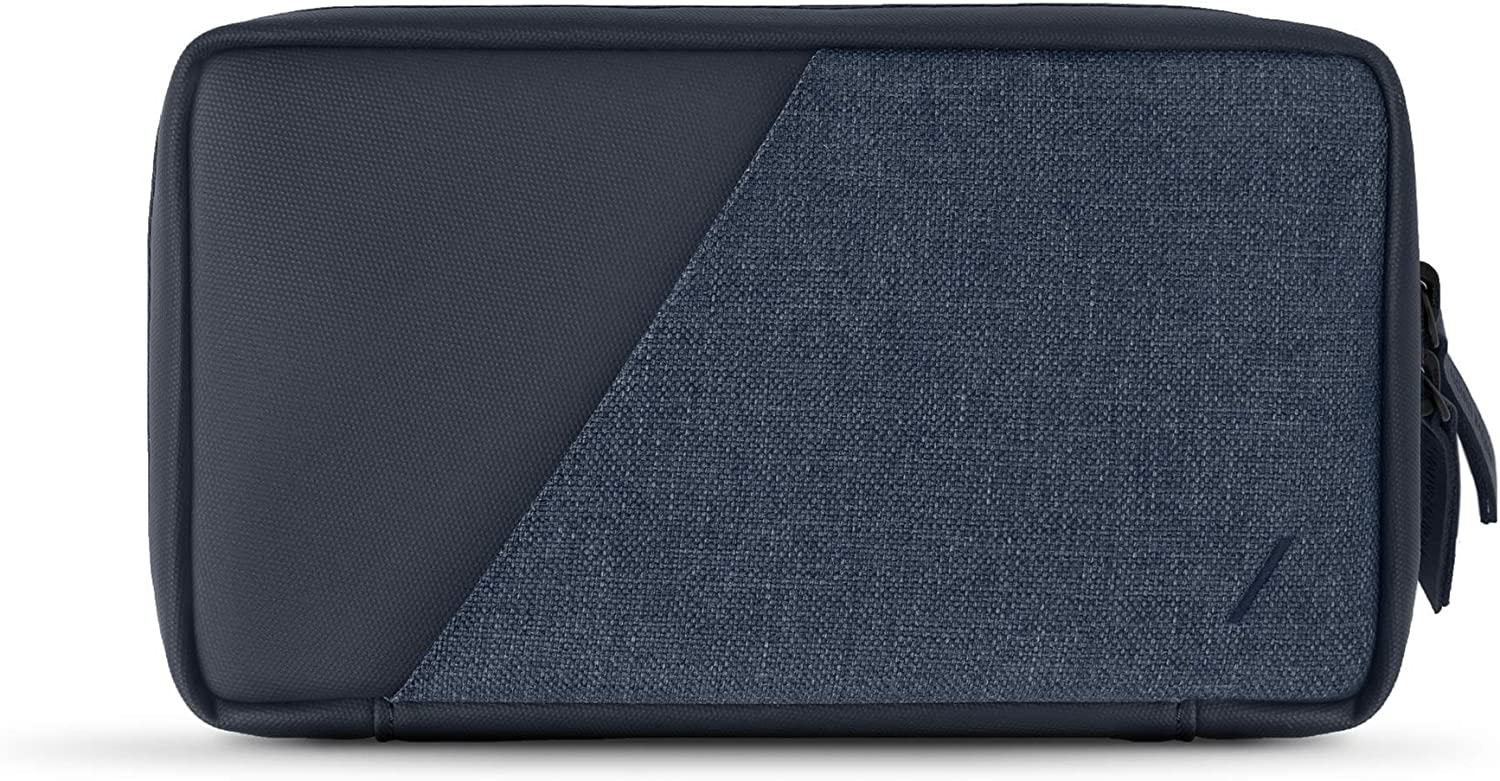 Native Union Stow Organizer – Lightweight Travel Pouch Crafted with Durable Canvas, Premium Accessory Organizer with Quick-Access Pocket Stores & Organizes Cables, Chargers & More (Indigo)