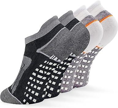 Socks Daze 2 Pack Non Slip Grip Yoga Socks for Women, Non Skid Cushioned Hospital Maternity Ballet Pilates Floor Dance Socks