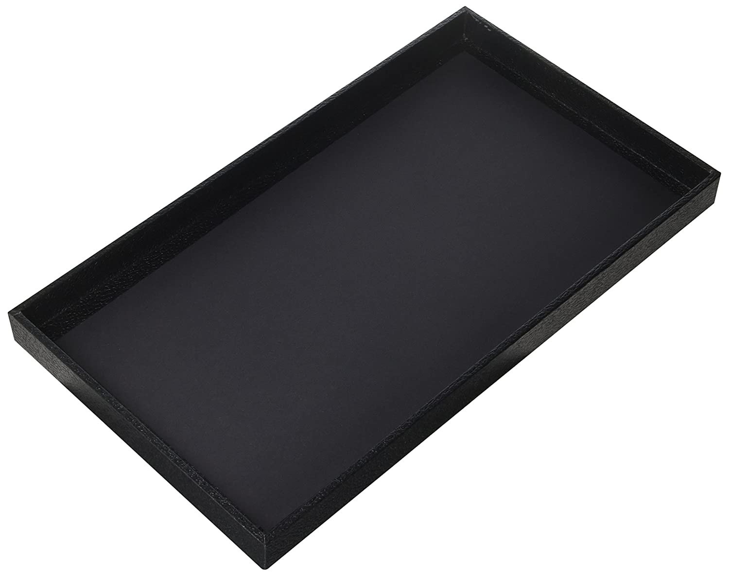 "Regal Pak 3-Piece 1 -Inch Deep Black Full Size Plastic Stackable Jewelry Tray 14 3/4"" X 8 1/4"" X 1""H"