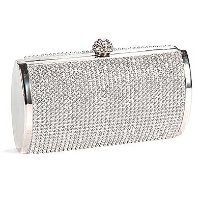 9e2abc3b7b Anladia Ladies Diamante Evening Clutch Bag Purse Wedding Prom Party Box  Handbag
