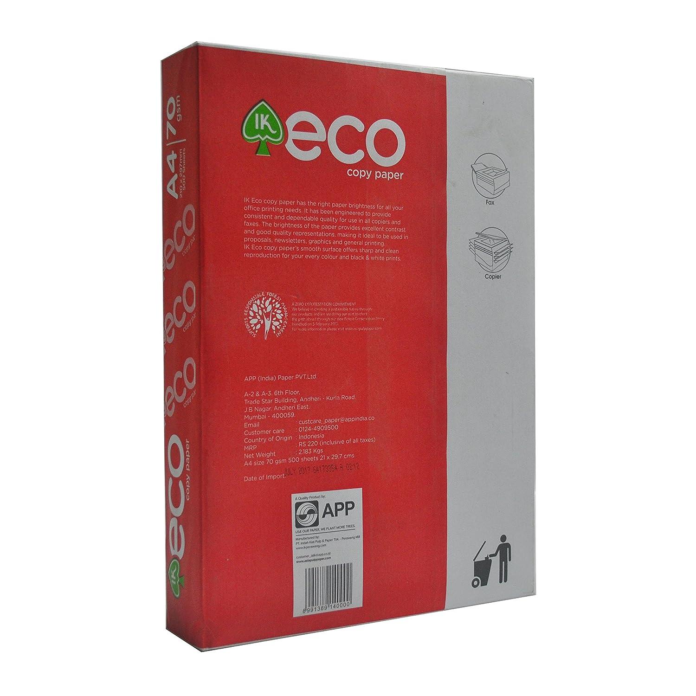 APP IK Eco Copy Paper of Size A4, 75 GSM, 500 Sheets