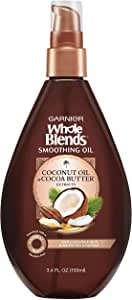 Garnier Whole Blends Smoothing Oil\, Coconut Oil & Cocoa Butter Extracts 3.4 oz