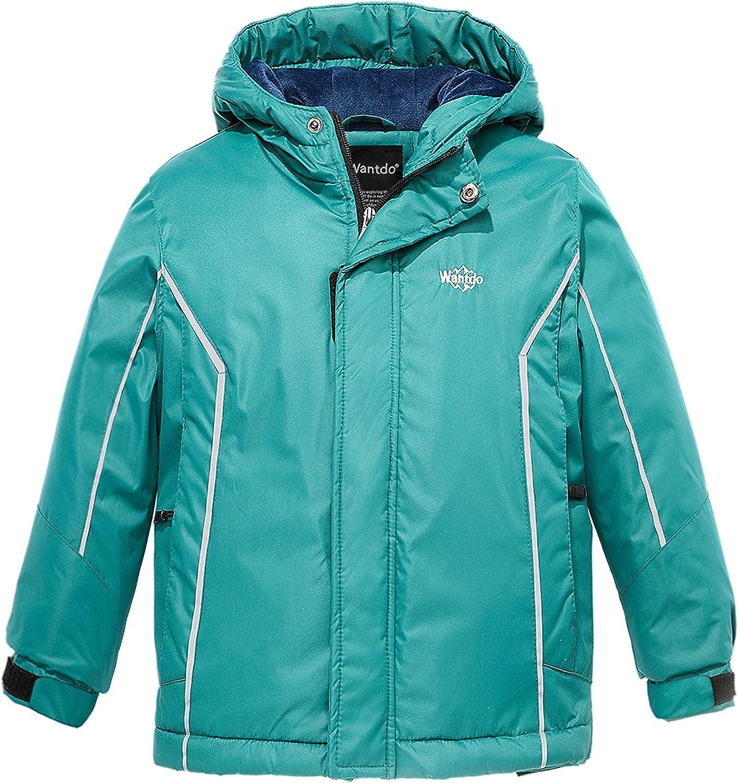 Wantdo Boy's Waterproof Quilted Winter Coat Warm Padded Fleece Puffer Jacket