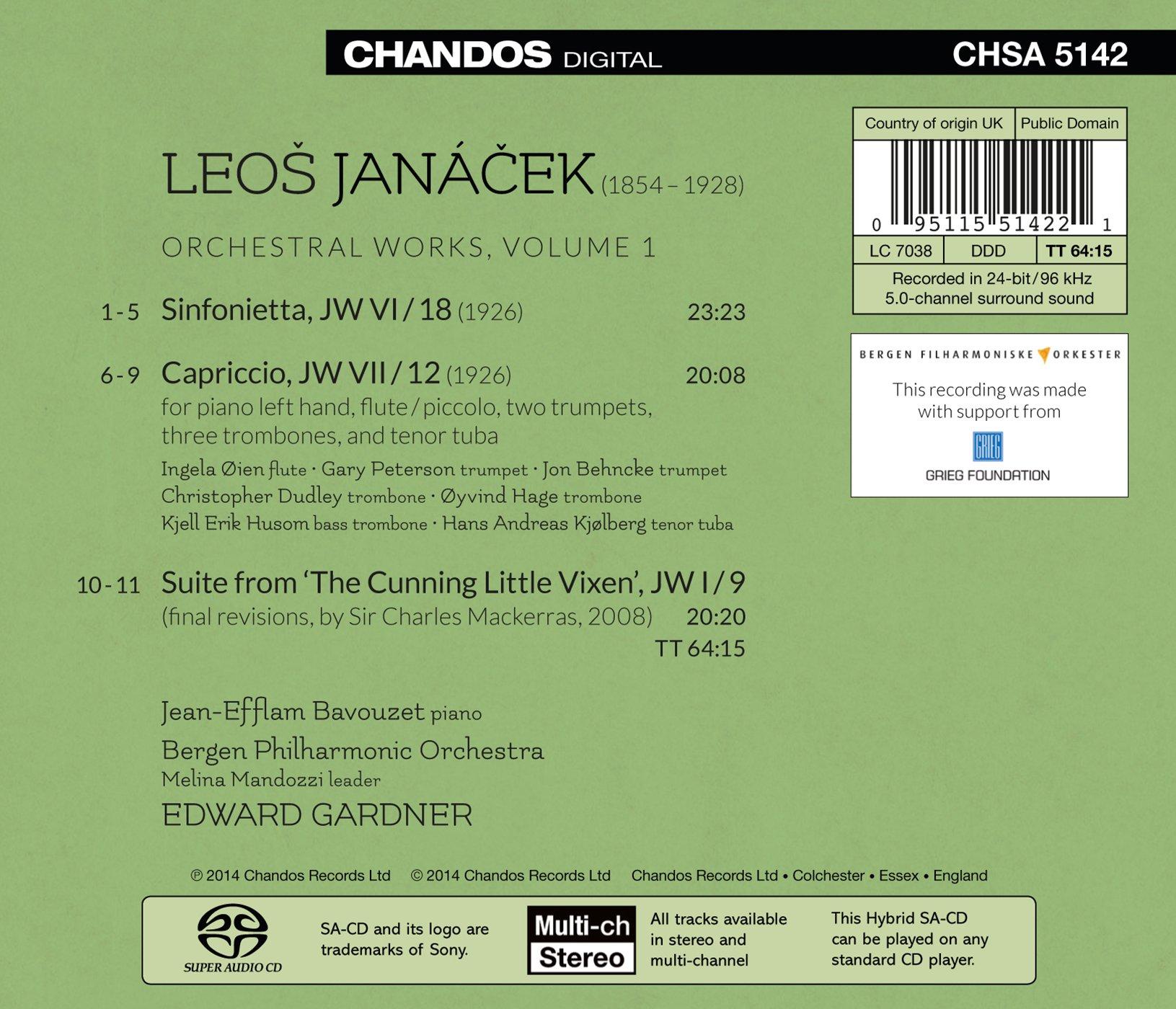 Janacek: Orchestral Works, Vol.1