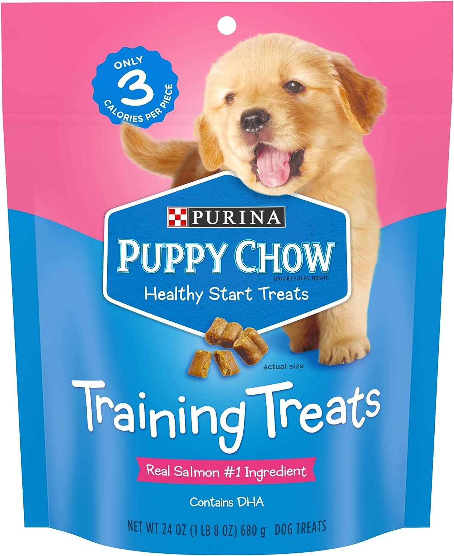 Purina Puppy Chow Training Treats, Healthy Start Salmon Treats - 24 oz. Pouch
