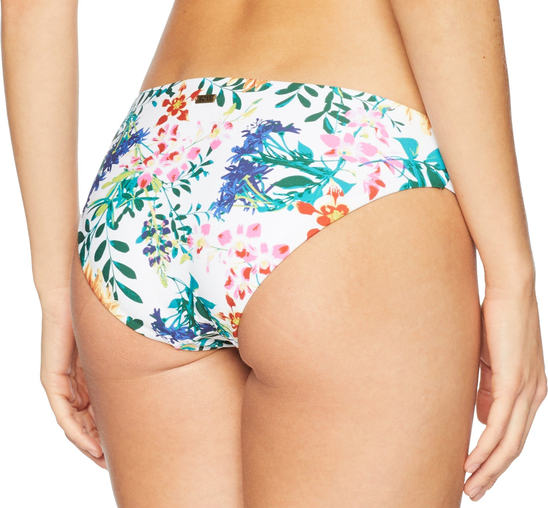 Roxy Junior's Solid Softly Love Reversible 70s Bikini Bottom, Bright White Floral Soiree, S by Roxy (Image #3)