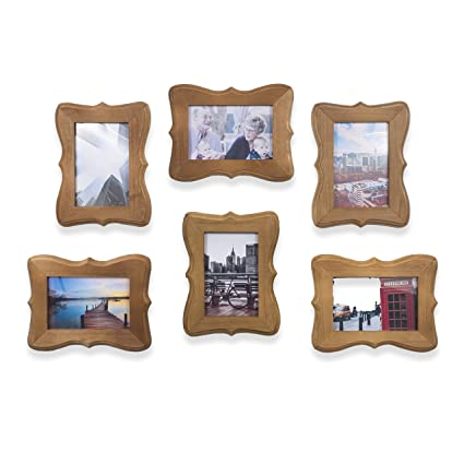 Wallniture Victorian Home Or Office Decor Wood Picture Frames For 4x6 Inch  Photos Walnut (6