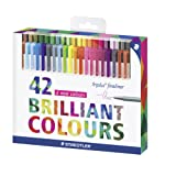 Staedtler - Triplus FineLiner 334 - Etui Carton 42 Feutres Pointe SuperFine 0,3 mm Assortis