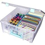 Art Bin 0365500 Super Satchel Double Deep, Portable Art & Craft Organizer with Handle