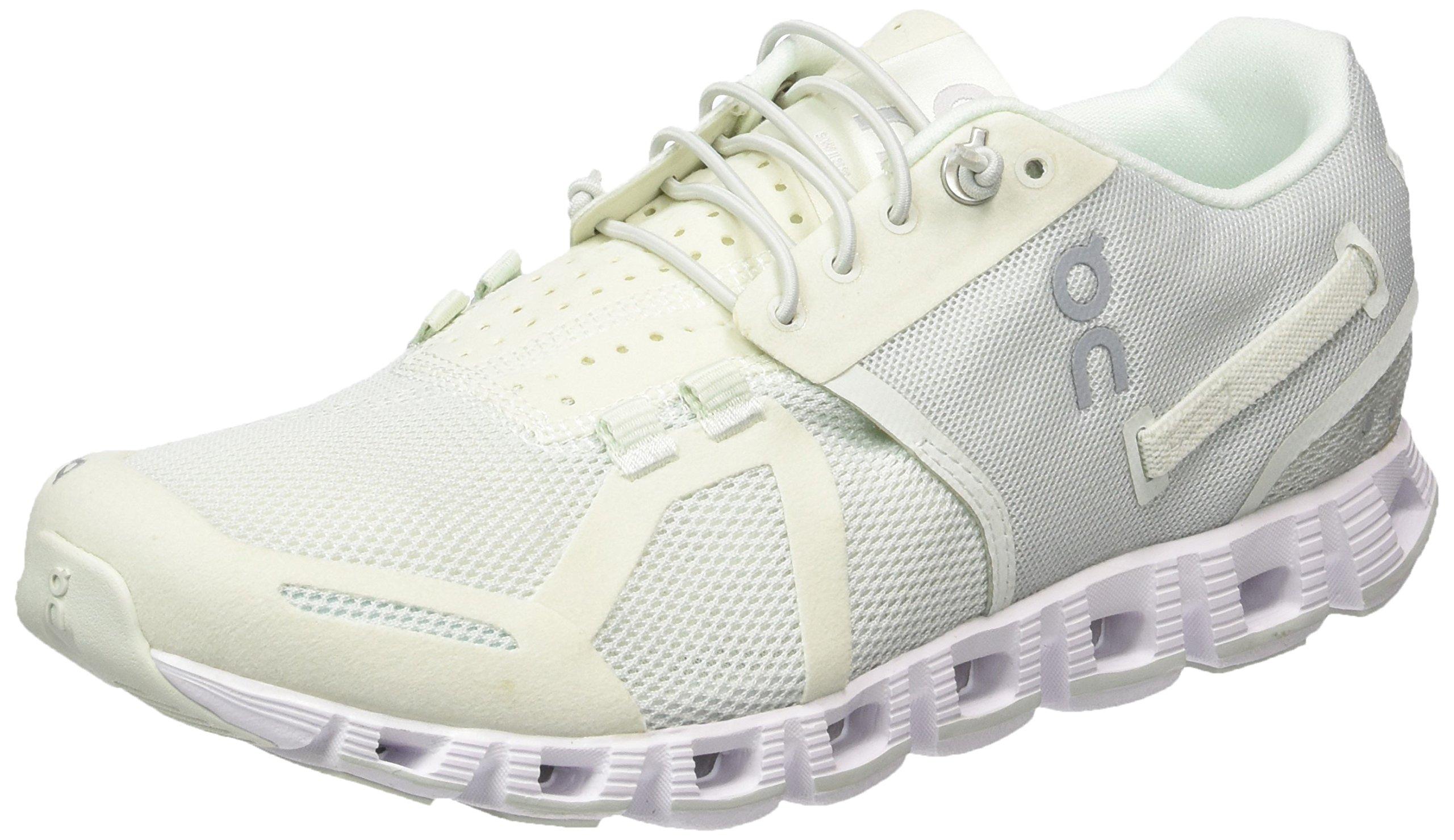 On Women's Running Cloud Sneaker, Ice/White - 5.5 B(M) US
