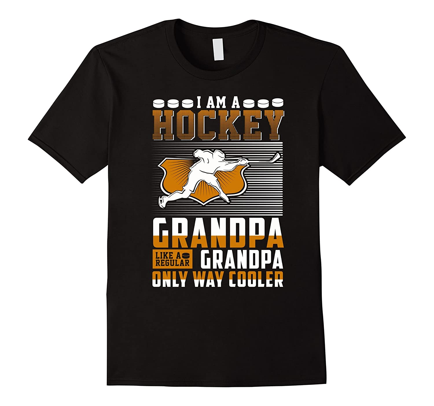 Im A Hockey Grandpa Shirt - Funny Grandpa T Shirt-TH