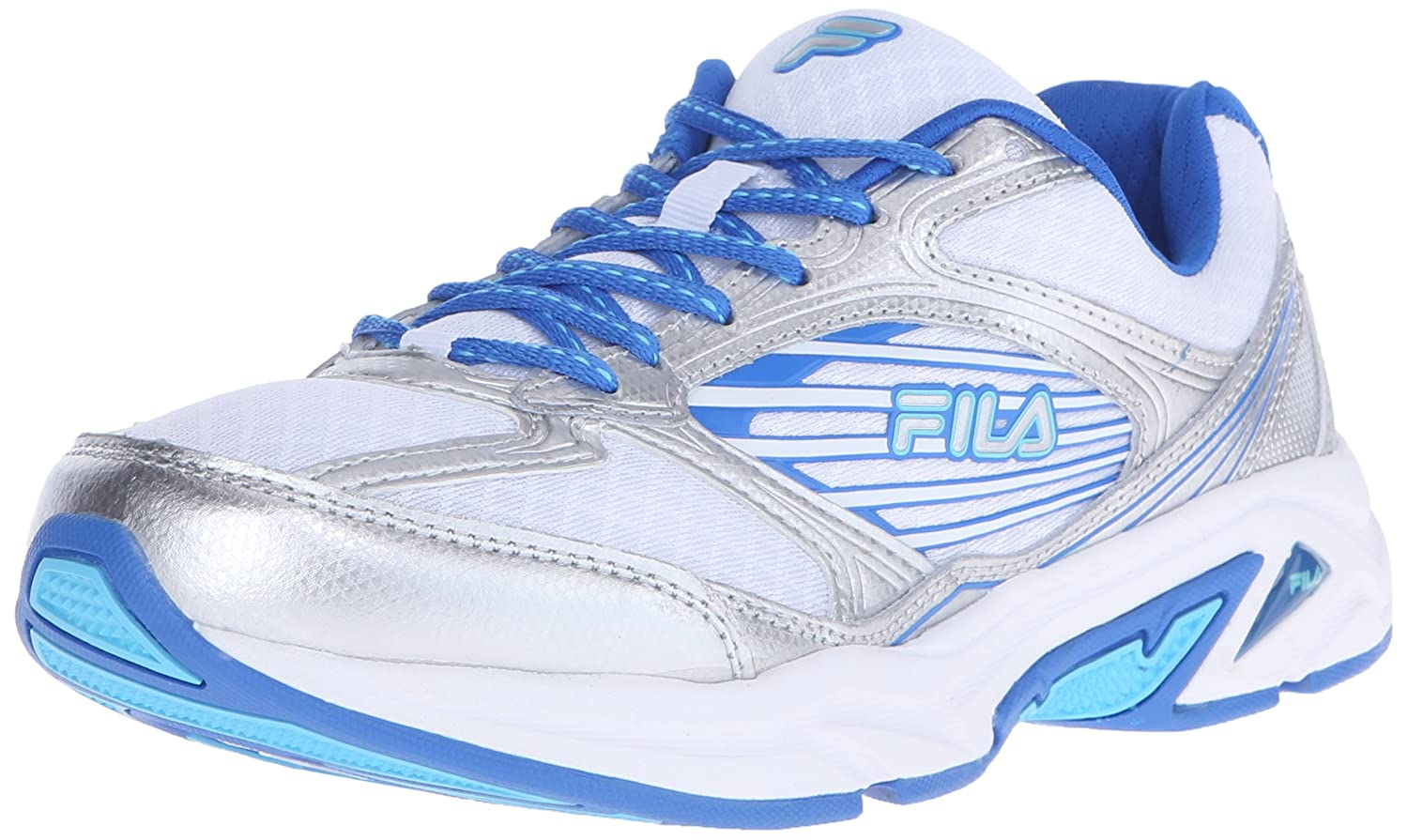 Fila Women's Inspell 3 Running Shoe B019Z0UYI8 7.5 B(M) US|White/Electric Blue
