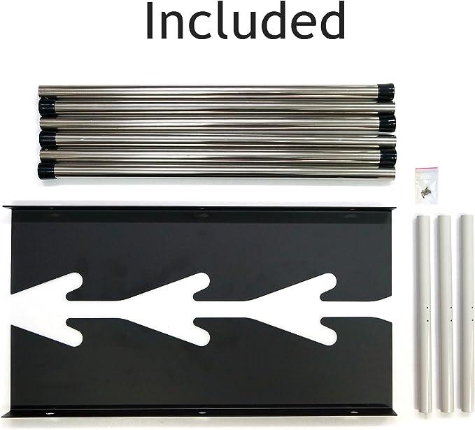 signworld vinilo rollo de almacenamiento de montaje en pared accesorio de impresora ancho de 38